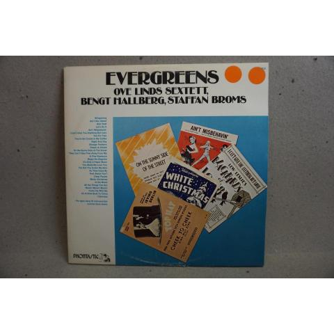 2 LP - Evergreens - Ove Linds Sextett - Bengt Hallberg - Staffan Broms m.fl.