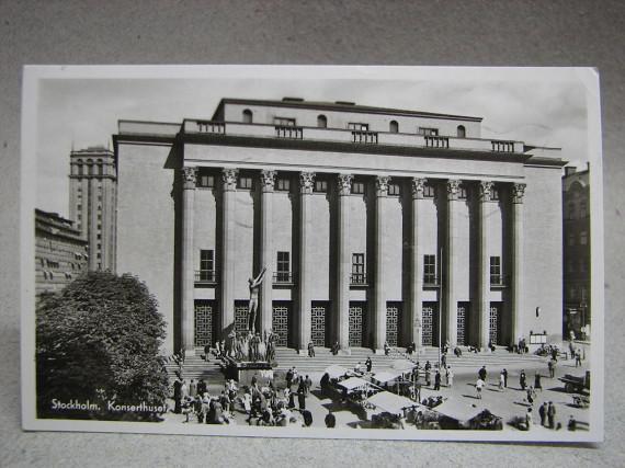 Vykort - Konserthuset Torghandel 1955