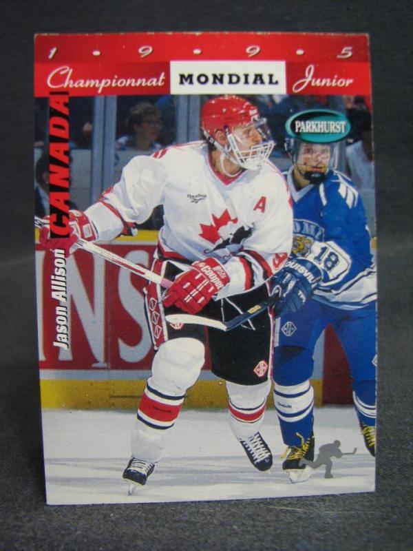 Ishockeykort Parkhurst World Junior Championships Canada SE208 / Jason Allison