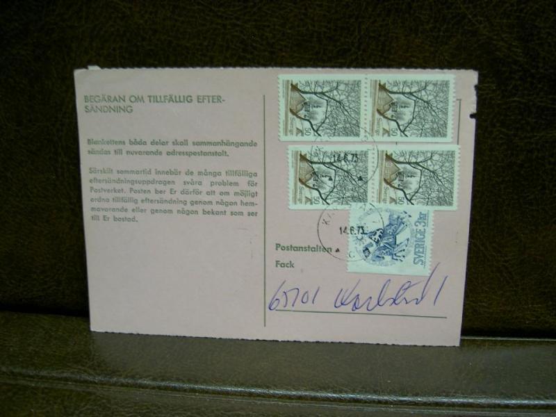 Paketavi med stämplade frimärken - 1973 - Karlstad 1