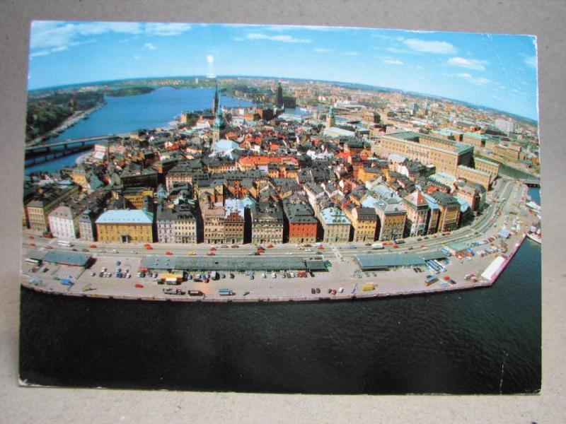 Vykort - Flygfoto över Gamla Stan - Stockholm