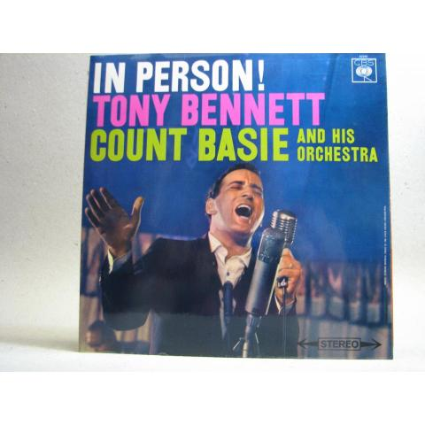 LP - Tony Bennett & Count Basie - In Person! 1959